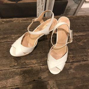 Nine West White Platform Heels